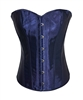 Navy Satin Lace Up Strong Boned Corset