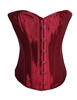 Wine Red Satin Lace Up Strong Boned Corset