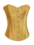 Yellow Satin Lace Up Strong Boned Corset