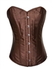 Brown Satin & Lace Sexy Strong Boned Corset