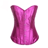 Purple Satin Sexy Strong Boned Corset Lace Up