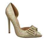 Satin High Heel Rhinestone Pump Shoe