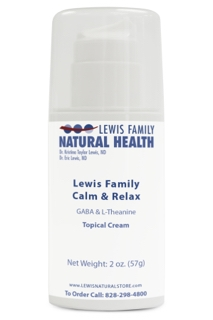 Lewis Family Calm & Relax (Topical GABA and L-Theanine), 2 oz.