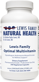 Lewis Family Optimal Multivitamin, 240 capsules *NEW FORMULA*
