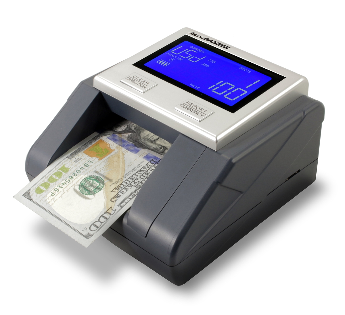 Multi-direction automatic counterfeit detector for 100/% US dollar banknote verification Safescan 185-S