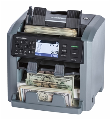 Ratiotec Rapidcount X 500 - Mixed-Denomination Bill Counter