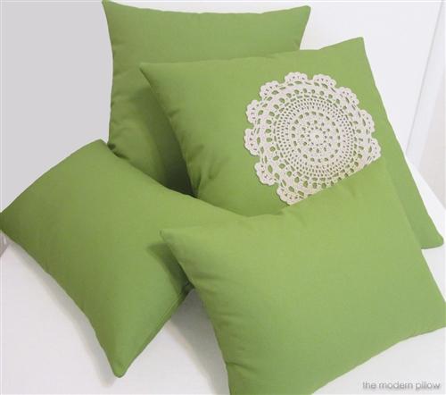 "12x16"" Avocado Green Solid Decorative Throw Pillow Cover Cushion"
