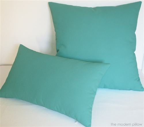 "20x20"" Aqua Blue Solid Decorative Throw Pillow Cover Cushion Cover"