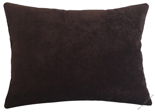 Chocolate Brown Velvet Solid Decorative Throw Pillow Cover Cushion 12x16