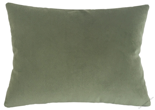 Sage Green Velvet Suede Solid Decorative Throw Pillow Cover