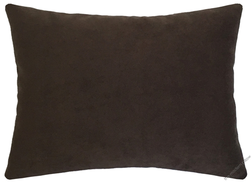 Chocolate Brown Velvet Suede Decorative Throw Pillow Cover Cushion 12x16