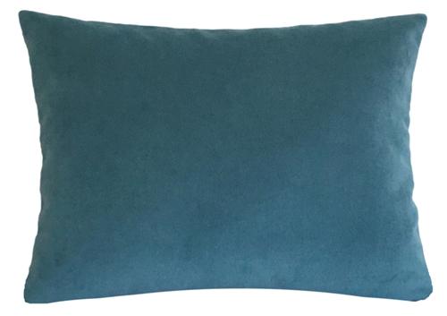 Pea Blue Velvet Suede Decorative Throw Pillow Cover Cushion 12x16
