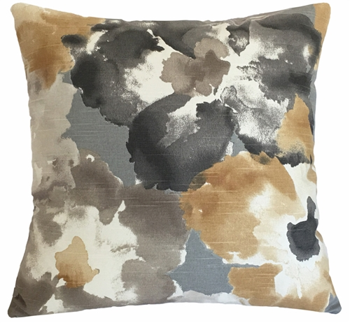 Amber Floral Watercolor Decorative Throw Pillow Cover Cushion
