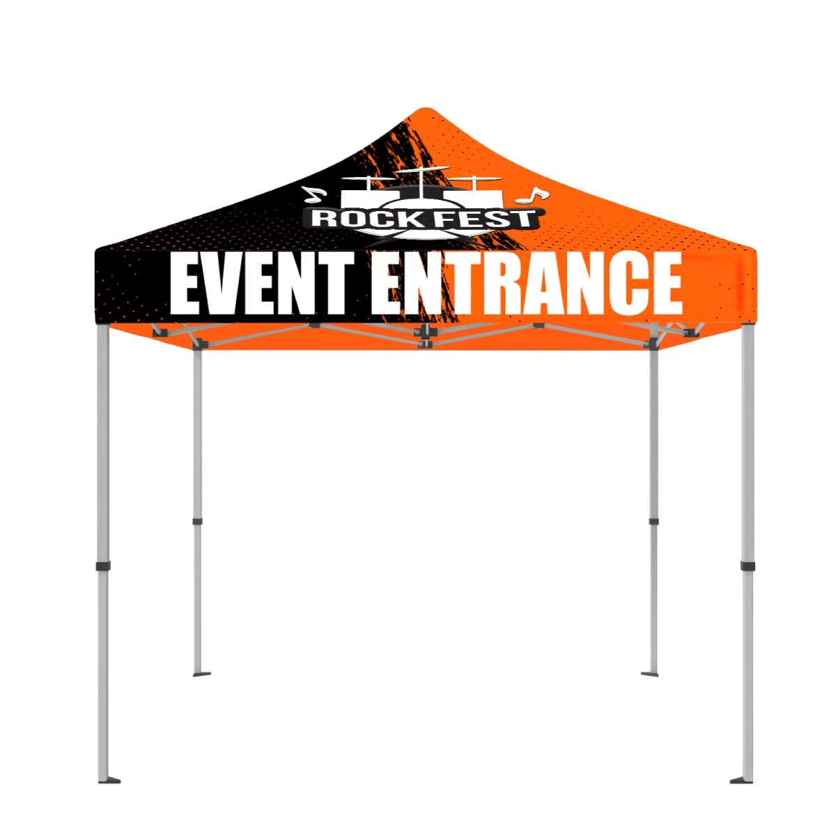 10 x 10 ft. Tent Full-Color Canopy with 50mm Aluminum Frame