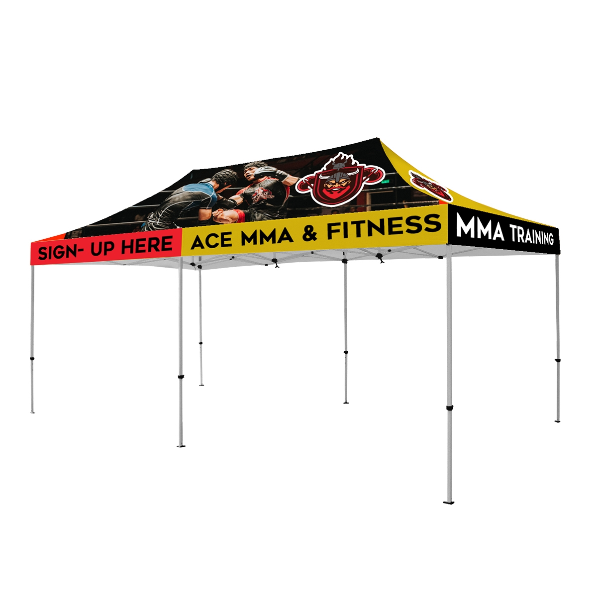 20 x 10 ft. Tent Full-Color Canopy with 40mm Aluminum Frame