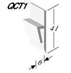 Quantum Capping Strip of Ceramic tiles uPVC QCT1