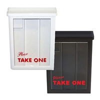 DELUXE WHITE OR BLACK BROCHURE BOX 2PC PACK ($14.95 ea)