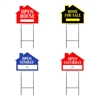 HOUSE SHAPE SIGNS W/FRAME MIX & MATCH 4PC PACK ($6.95 ea)