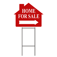 HOME FOR SALE W/FRAME 4 PK ($5.95 ea.)