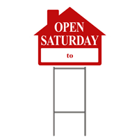 OPEN SATURDAY W/FRAME 4 PK ($5.95 ea.)
