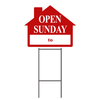 OPEN SUNDAY W/FRAME - SINGLE UNIT ($7.20 ea.)