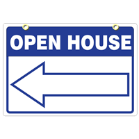 OPEN HOUSE SIGN 18 x 24 5 PC PACK