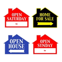 HOUSE SHAPE SIGNS MIX & MATCH 4PC PACK ($4.95 ea.)