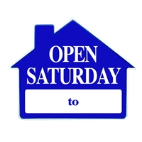 OPEN SATURDAY SIGN 4 PC PACK ($4.95 ea)
