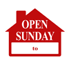 OPEN SUNDAY SIGN ($6.95 ea) - SINGLE UNIT