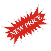 NEW PRICE STARBURST SIGN ($6.95 ea) - SINGLE UNIT