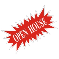 OPEN HOUSE STARBURST SIGN ($6.95 ea) - SINGLE UNIT