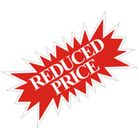REDUCED PRICE STARBURST SIGN ($6.95 ea) - SINGLE UNIT