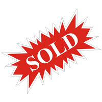 SOLD STARBURST SIGN ($6.95 ea) - SINGLE UNIT