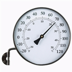 6 inch Brass Finish Thermometer