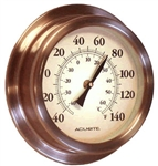 Copper Porthole Thermometer
