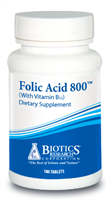 Folic Acid 800 by Biotics Research