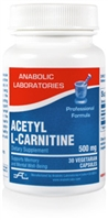 ACETYL L-CARNITINE 500MG 30 count by Anabolic Labs