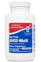 AVED-MULTI TAB IRON FREE 60 count by Anabolic Labs