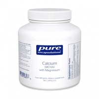 Calcium (MCHA) With Mag 180ct by Pure Encapsulations