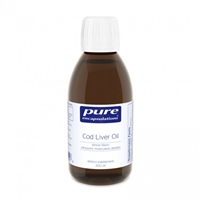 Cod Liver Oil (Lemon) 200ml by Pure Encapsulations