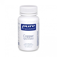 Copper (Glycinate) 60ct by Pure Encapsulations