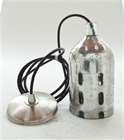 Metal Seltzer Pendant Light | The Seltzer Shop | Colored Argentine seltzer bottle - vintage seltzer pendant light - wine chiller interior design elements