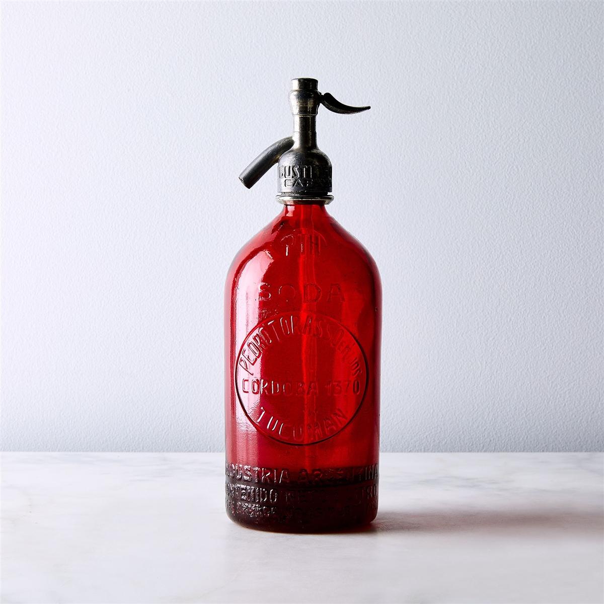 Red Vintage Seltzer Bottle | The Seltzer Shop | Colored Argentine seltzer  bottle - vintage seltzer pendant ...