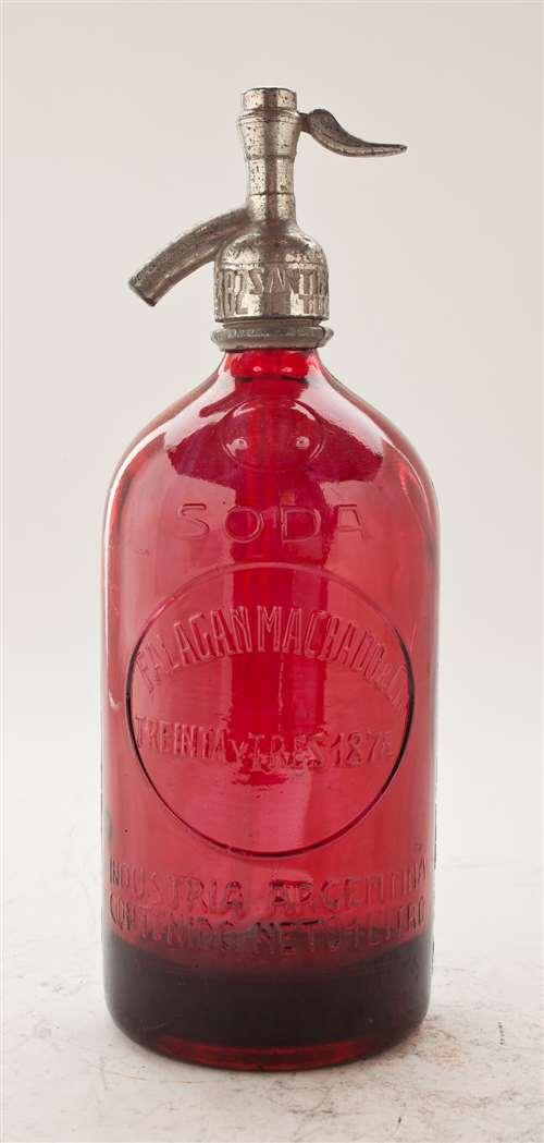 Red Vintage Seltzer Bottle The