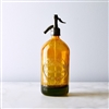Amber Seltzer Bottle | The Seltzer Shop | Colored Argentine seltzer bottle - vintage seltzer pendant light - wine chiller interior design elements
