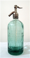 Clear 55 Vintage Seltzer Bottle