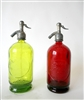 Collection XI Vintage Seltzer Bottles | The Seltzer Shop | Colored Argentine seltzer bottle - vintage seltzer pendant light - wine chiller interior design elements