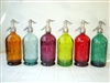 Collection XVI  Vintage Seltzer Bottles | The Seltzer Shop | Colored Argentine seltzer bottle - vintage seltzer pendant light - wine chiller interior design elements
