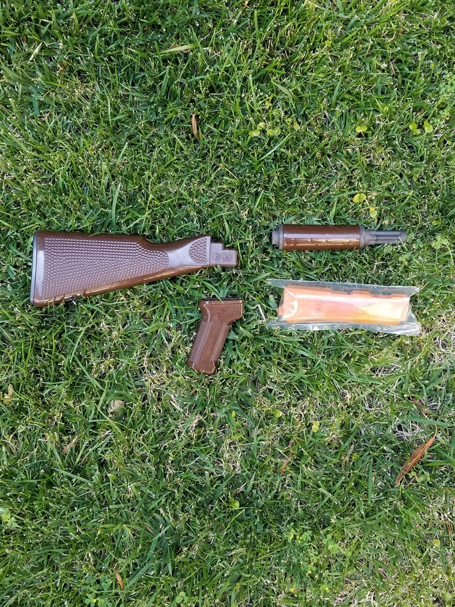 AK47 EAST GERMAN AKM PLASTIC STOCK SET