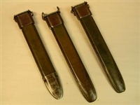 "SUPER SALE! SET OF 3 US M7 SCABBARDS WITH METAL TIP GRADE II SOLD ""AS IS"" ONLY $ 44.95 FOR 3 PCS."